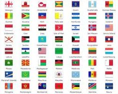 country flags by color