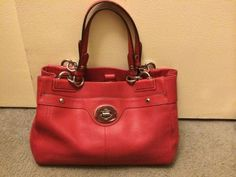 new red coach purse