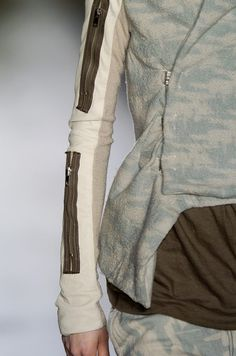 Rick Owens Fall 2005. Hmm, zippers to nowhere. Knowhere.
