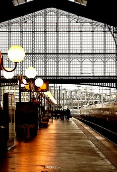 Looks like Gare de l'East in Paris... Note: repetition of the grid, light functions evenly spaced.  Orient-Express Europe Journey
