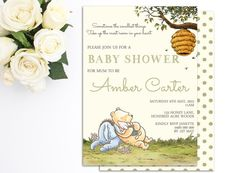 Classic winnie the pooh baby shower 2 printable by partydesignsdiy classic winnie the pooh baby shower 2 printable by partydesignsdiy baby shower pinterest filmwisefo Images