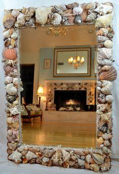 I would love to make something like this seashell mirror