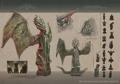 Mid-term projects from our term 3 students. Entertainment Design: By Wei Huai Xu By Peter Sutherland By Joao Silva . Cthulhu, Student Work, Concept Art, Miniatures, Fantasy, Statue, Artist, Artwork, Death