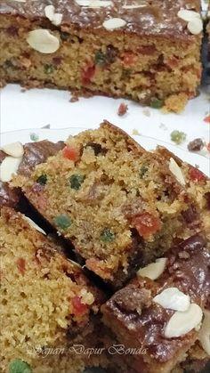 Sajian Dapur Bonda Eggless Rich Fruit Cake Versi Bakar