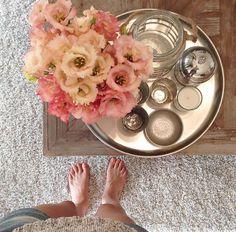 Mit Blumen den Tag versüßen #flowers #home #deko #interior #wohlfühlen #blumen #rosa
