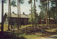 """""""Finnetunet"""" in Grue, Hedmark - Norway. Many of the Finnish people came and settled here in 1500-1600s. Finnskogene (Finnforests) is a large contiguous forest area stretching along both sides of the border between Solør, Hedmark - Norway and Värmland in Sweden, municipalities here was Eidskog, Kongsvinger, Brandval, Grue, Hof, Åsnes and Våler. Most of these finns came from Savolax (Karelen), Finland. Some settled also in counties Akershus, Oppland, Buskerud and Oslo."""