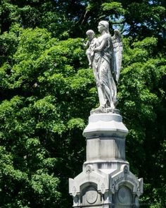 When I visited the New York earlier this year, one of the places I stopped to photograph at was the Albany Rural Cemetery in Menands. Founded in 1844 as part of the rural cemetery movement, Albany … Headstone Inscriptions, Autumn Rain, Cemetery Art, Graveyards, Hush Hush, Statues, Statue Of Liberty, Bodies, Creatures