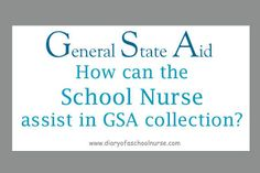 Diary Of A School Nurse: GSA and The School Nurse