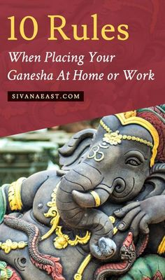 Don't Forget These 10 Rules When Placing Your Ganesha At Home Or Work. Snuggling up to Lord Ganesha the stuffies right now, divinity protected touch this Ganesh Statue, Shri Ganesh, Lord Ganesha, Clay Ganesha, Ganesha Art, Lord Krishna, Lord Shiva, Yoga Studio Design, Meditation Space