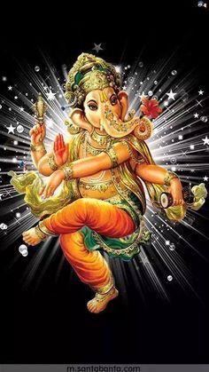 Ganesha Pictures, Ganesh Images, Krishna Images, Sri Ganesh, Shiva Hindu, Ganpati Bappa Wallpapers, Dancing Ganesha, Tarot, Lord Ganesha Paintings