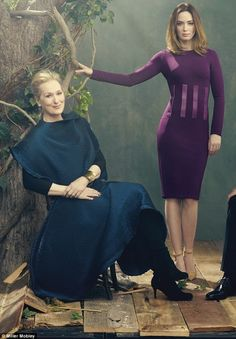 """With Emily Blunt ~ Photographed for """"The Hollywood Reporter"""""""