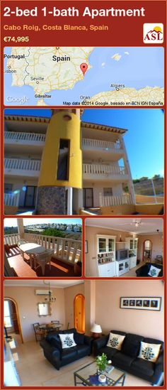 2-bed 1-bath Apartment in Cabo Roig, Costa Blanca, Spain ►€74,995 #PropertyForSaleInSpain