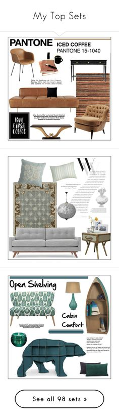 """""""My Top Sets"""" by pat912 ❤ liked on Polyvore featuring interior, interiors, interior design, home, home decor, interior decorating, CB2, Americanflat, Fogarty and Home"""