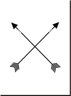 size: Stretched Canvas Print: Black White Arrow by Jetty Printables : Using advanced technology, we print the image directly onto canvas, stretch it onto support bars, and finish it with hand-painted edges and a protective coating. Cute Tattoos, Tattoos For Guys, Mini Tattoos, Crossed Arrow Tattoos, Crossed Arrows, Simple Compass Tattoo, Simple Tattoos For Women, Family Tattoos For Men Symbolic, Small Chest Tattoos