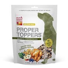 Top 5 Best Dog Food Toppings & Mixers #BestPuppyFood #FoodForPuppies Grain Free Dog Food, Free Food, Whole Food Recipes, Dog Food Recipes, Kitchen Recipes, Chicken Recipes, Dehydrated Dog Food, Superfood Recipes, Best Dog Food