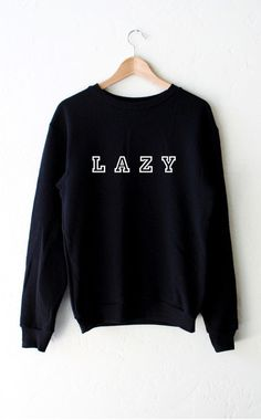 - Description - Size Guide Details: Super soft & cozy 'Lazy' oversized crew neck sweatshirt in black. Brand: NYCT Clothing. Unisex, oversized/loose fit. Model is wearing a size S Model is 5'9 Model's