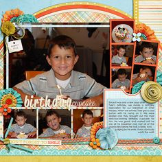 Kit: Choose Happiness by Kristin Cronin-Barrow and Shawna Clingerman Template: Half Pack 36 - Photo Focus 9 by Cindy Schneider
