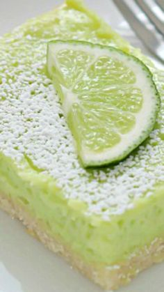 Lime Bars ~ It's summer all year round with these fresh and easy Lime Bars
