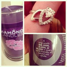 Check out this pretty ring that [jessicalynnbutler] posted online.She found this beautiful on inside one of her Diamond Candles. $24.95