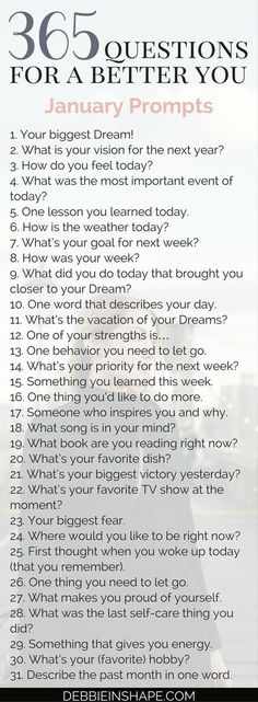 365 questions for Group accountability, support and fun