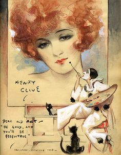 "Henry Clive - Hollywood - Christmas 1928 - Dear Old Art - ""Be Good, And You'll Be Eccentric"""