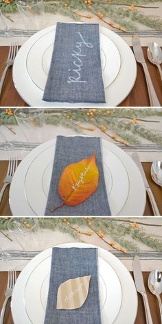 Unique & Simple Thanksgiving Name Cards // Blanche & Thirteenth