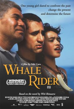 Whale Rider was a film made in 2002 and shot at the remote township of Whangara on the East Coast of the North Island. Based on the book by Witi Ihamaera it retold the myth of Paikea Apirana who was to lead the tribe but in the film this role was a girl, which her grandfather could not accept. It is resolved when several Whales beach themselves in front of the settlement.