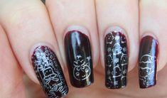 Konad Silver Stamping Polish Review | Christmas Nail Art - The Nail Chronicle Simple Nail Art Designs, Easy Nail Art, Christmas Nail Art, Stamping, Polish, Silver, Vitreous Enamel, Stamps, Stamp Sets