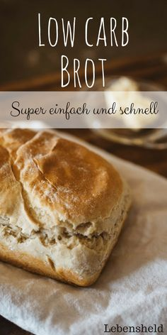 Low carb bread - easy and fast- Low carb Brot – einfach und schnell low carb bread - Healthy Low Carb Dinners, Best Low Carb Recipes, Low Carb Dinner Recipes, Dip Recipes, Lunch Recipes, Yummy Recipes, Dessert Recipes, Fast Low Carb, Low Carb Diet