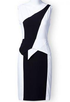 White & Black Split Dress.