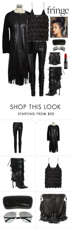 """""""Sexy in Black"""" by kotnourka ❤ liked on Polyvore featuring The Row, Joseph, Giambattista Valli, Chanel, Rebecca Minkoff and NYX"""