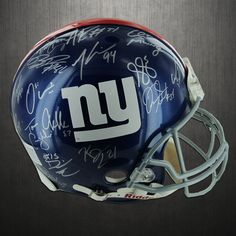 New York Giants Team Signed 2011 Helmet Super Bowl XLVI