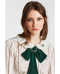 ZARA - WOMAN - BOW NECKLACE WITH BROOCH