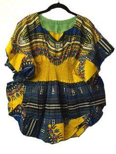 African Print Stylish Women Dashiki Top
