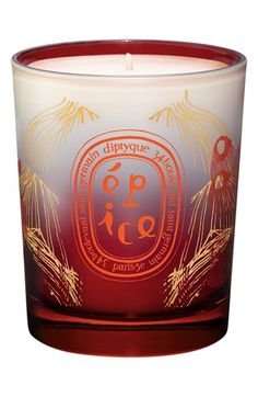 Diptyque spice candle.