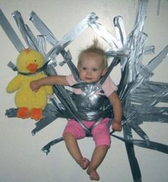 bad parents, worst parents ever, parenting fails, baby duct taped to wall
