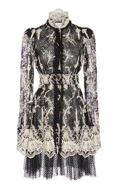 Hilaria Lace-Embroidered Tulle Mini Dress by ALEXIS Now Available on Moda Operandi Dress Outfits, Fashion Outfits, Womens Fashion, Fashion Tips, Fashion Design, Petite Fashion, Gothic Fashion, Lace Weave, Mini Vestidos