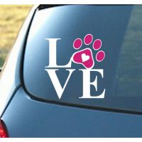 Hight Recommond Heart With Dog Paw Puppy Love Decal Window Sticker For Cars Walls Vinilos Decorativos Car Decals Car Sticker Window Stickers, Wall Decal Sticker, Car Stickers, Car Decals, Dog Paws, Pet Dogs, Pets, Dog Love, Puppy Love