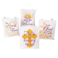 Faith Tote Bags - OrientalTrading.com