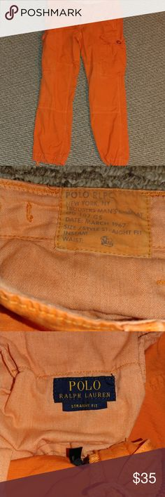 936793ea9f I just added this listing on Poshmark  Polo Ralph Lauren Mens Orange Cargo  Joggers.