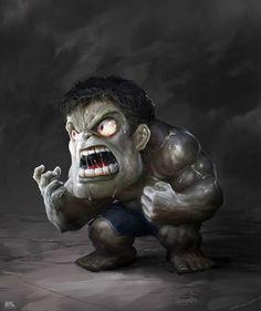 Gray Hulk on Behance Marvel Wolverine, Marvel Dc Comics, Chibi Marvel, Hulk Avengers, Marvel Vs, Marvel Heroes, Gray Hulk, Iron Man, Hulk Art