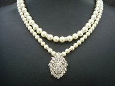 Hey, I found this really awesome Etsy listing at https://www.etsy.com/listing/58270192/bridal-pearl-necklace-ivory-swarovski