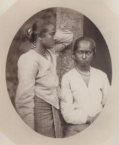 Untitled, Two Women in Malaya, 1860-1869  Baron Von Stillfried (1839–1911)  Albumen Print  Accession Number: PH50.68