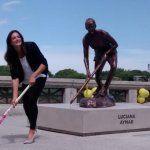 Luciana Aymar ya tiene su estatua en la Ciudad