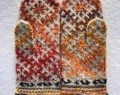 Fair-Isle Handschuhe Winter Handschuhe Damen Handschuhe lettischen Fäustlinge Fair Isle Handschuhe sofort lieferbar