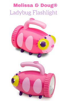 """The dark won't """"bug"""" young adventurers when they have this Mollie Ladybug Flashlight from Melissa & Doug. The kid-friendly flashlight showcases an oh-so cute bug design with a sturdy, easy-grip handle — making it perfect for your curious little one. #ad"""