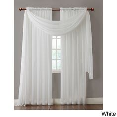 Warm Home Designs Pair of Taupe Sheer Curtains or Extra Long Window Scarf White Sheer Curtains, Voile Curtains, Window Curtains, Window Panels, White Bedroom Curtains, Curtain Panels, Valance, Home Design Decor, House Design