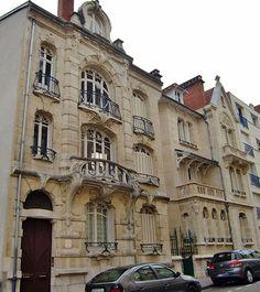 Bonjour Nancy ! Tous les jours à 10 h une nouvelle photo de la ville de Nancy - Ville de Nancy - Maison de l'entrepreneur Eugène Mangon par l'architecte Paul Charbonnier.