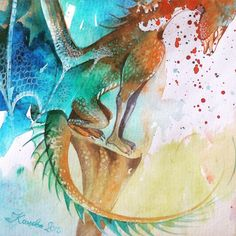 watercolor dragon