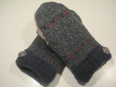 Leslie Village Wool Mittens  med/lg  MMC486 by MichMittensbyLauri, $23.00